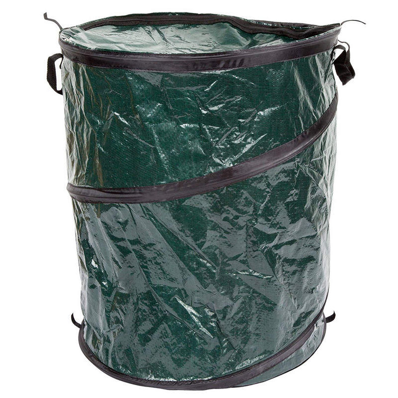 33 Gallon Collapsible  Trash can for Garbage With Zippered Lid