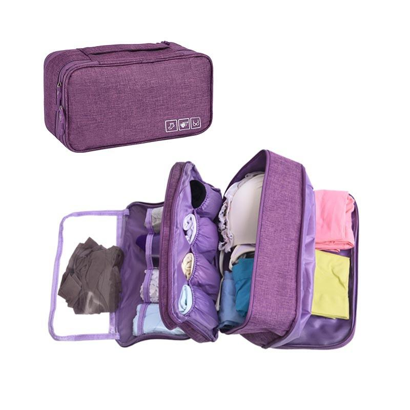 Large Packing Organizer Lingerie Pouch Three Layers Bra Underwear Storage Bag
