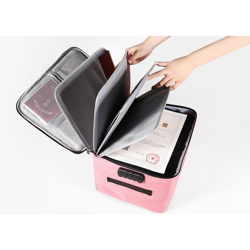 Large Capacity Waterproof Anti Theft File Storage Bag