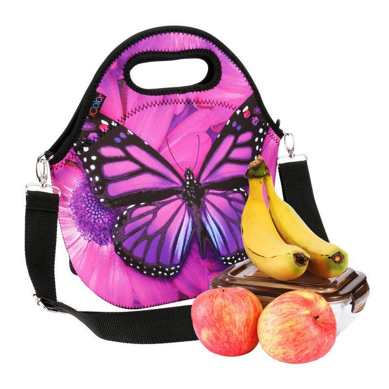 Neoprene Lunch Bag With Removale Shoulder Strap for Adults,Kids -Great for Travel,Outdoors, Work,School