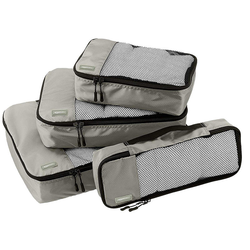 Amazon Basics 4 Piece Packing Travel Organizer Storage Bags Set