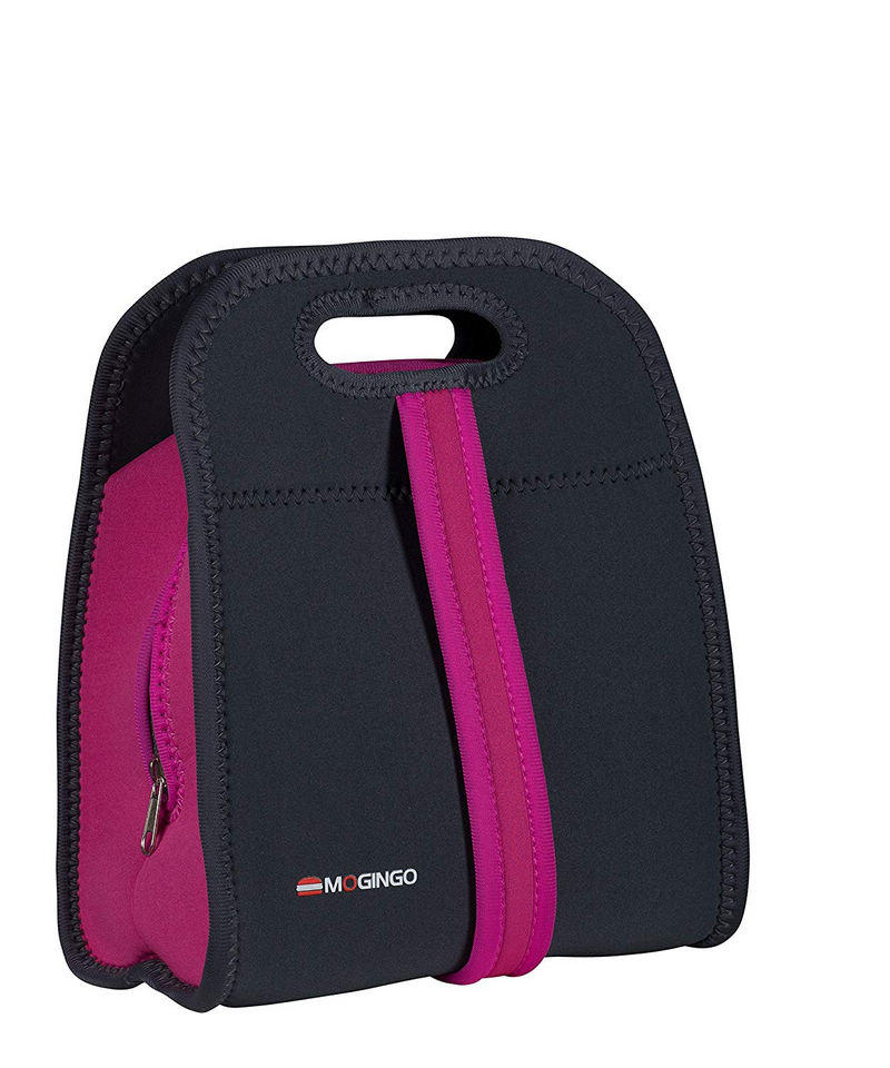 Neoprene Insulated Zippered Lunch Cooler Bag with Dual Carrying Handle