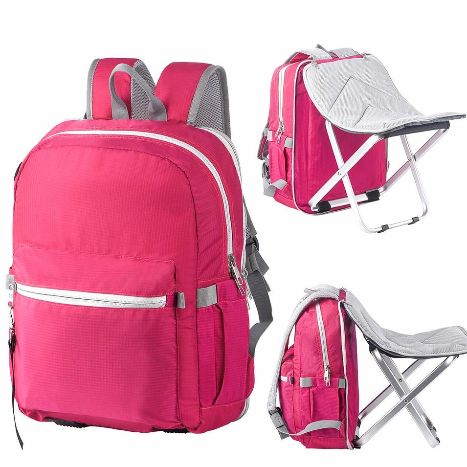 Backpack Stool Combo - Detachable Portable Folding Chair