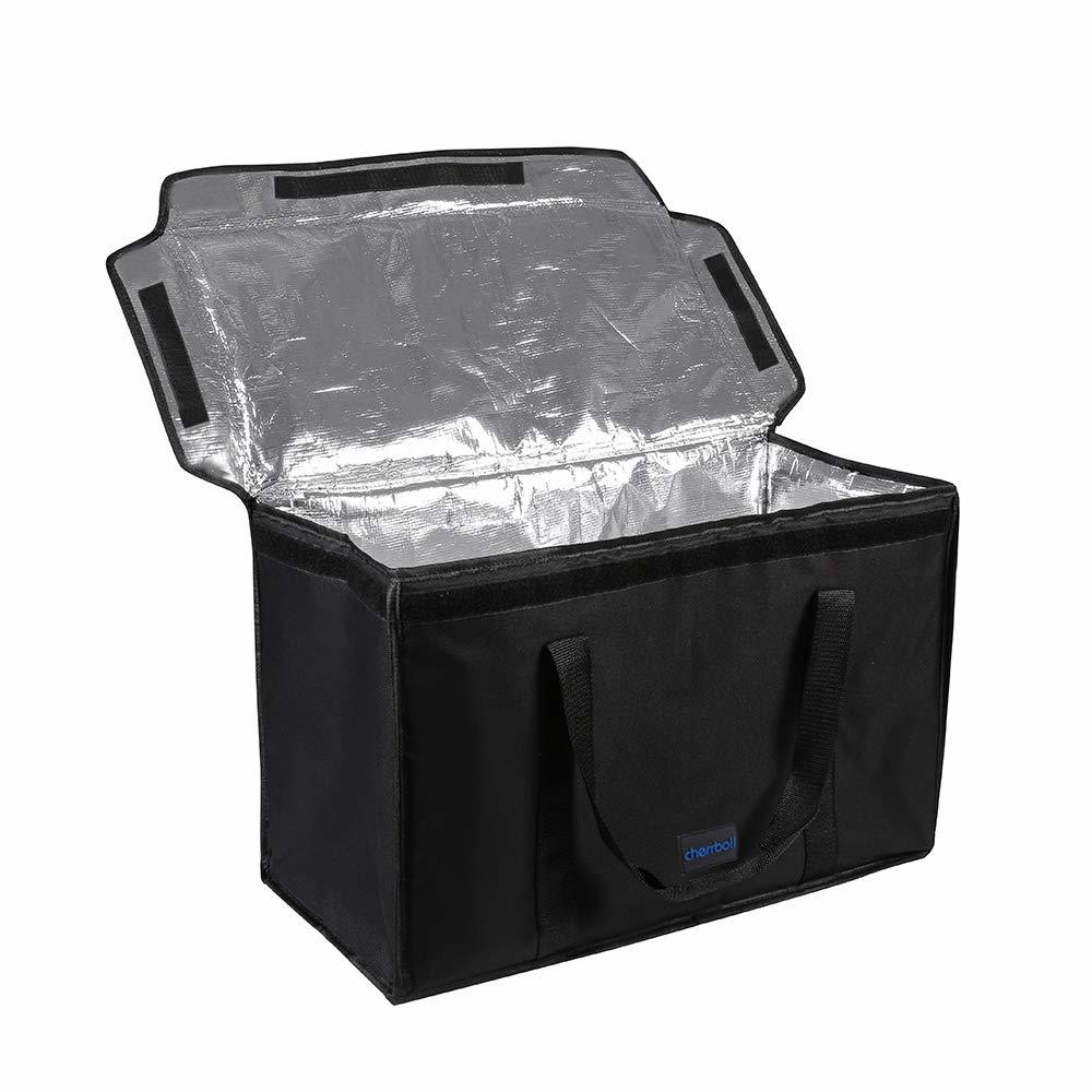 """Commercial Grade Food Delivery Bag, Premium Insulation Thermal Carrier for Uber Eats, Restaurant Catering Service, Keep Food Hot and Cold - 23"""" x 14"""" x 15"""""""
