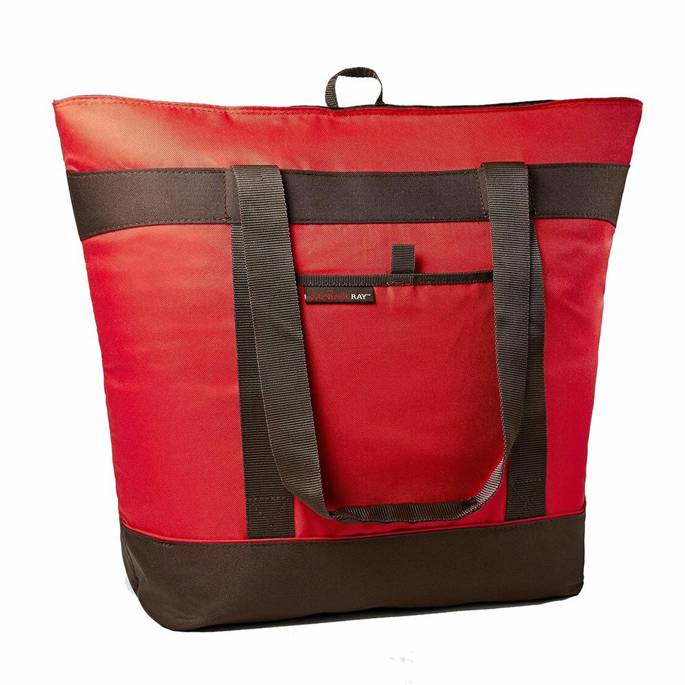 Thermal Tote, XL Insulated Bag for Grocery Shopping /Entertaining, Transport Hot and Cold Food, Red