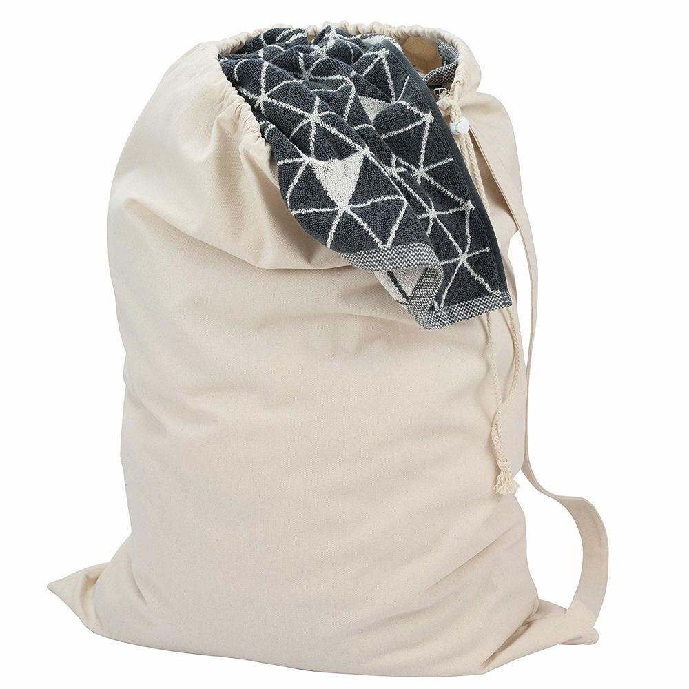 Large Heavy Duty Canvas Sack Bag with Shoulder Straps and Draw Cord with Lock