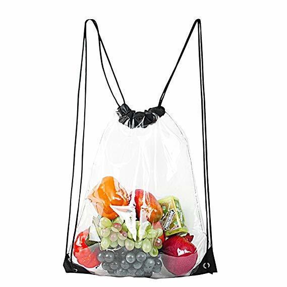Clear Drawstring Bag Waterproof Stadium Drawstring Backpack