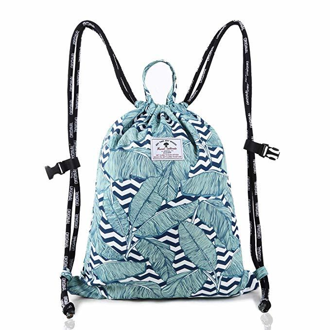 Drawstring Backpack Original Tote Bags for Gym Hiking Travel Beach