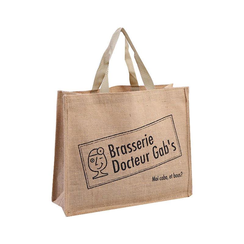 wholesale eco-friendly carry cheap shopping jute bag