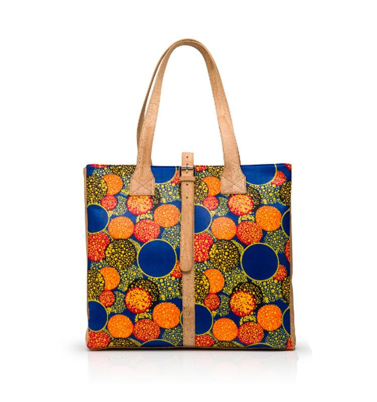 Natural Cork Handle Handbag Large Tote Satchel bag