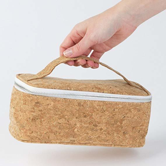 Natural Cork Cosmetic Tote Bags for Makeup Hair Accessories