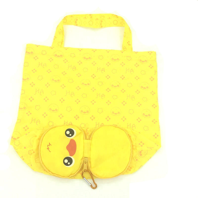 Cartoon Animal Shopping Tote Bag Waterproof Handbag with Hook