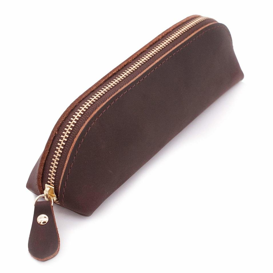 Leather Pencil Case Small Pencil Pouch