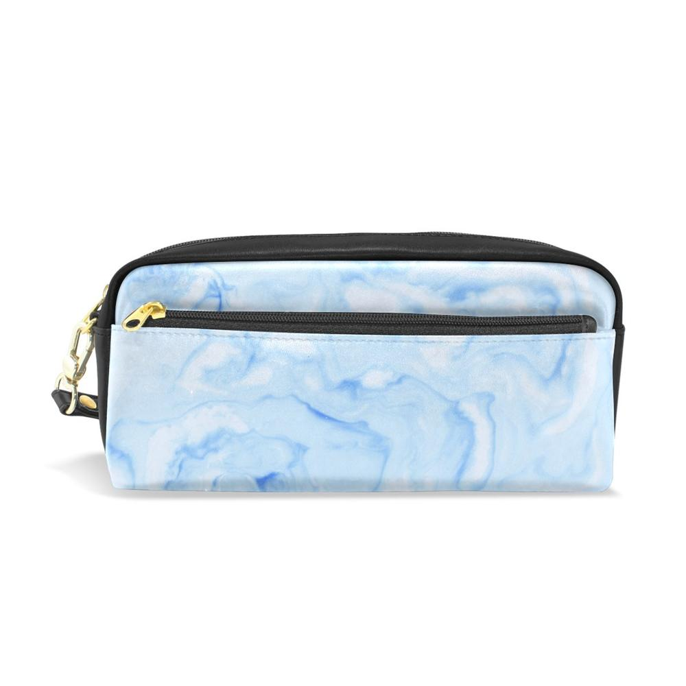 Marble Printed Travel Pencil Pouch