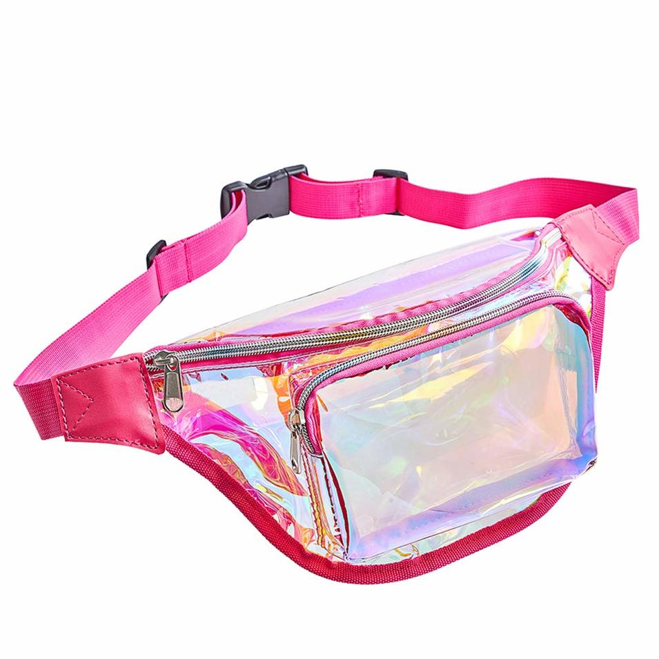 Cheap Clear PVC Transparent Waist Bag