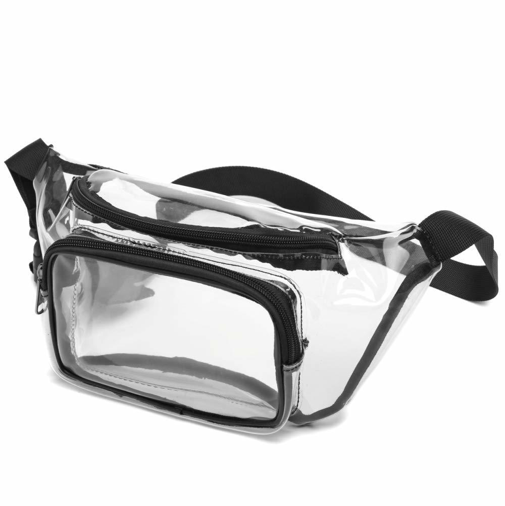 Adjustable belt design transparent waterproof pvc waist bag