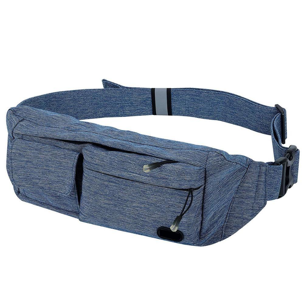 Premium waterproof sport fanny pack soft travel waist bag