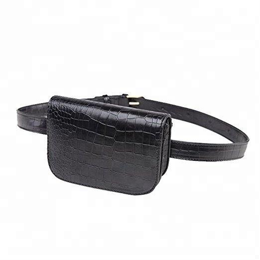 luxury custom chic fanny pack fashionable women waterproof sport leather waist bag