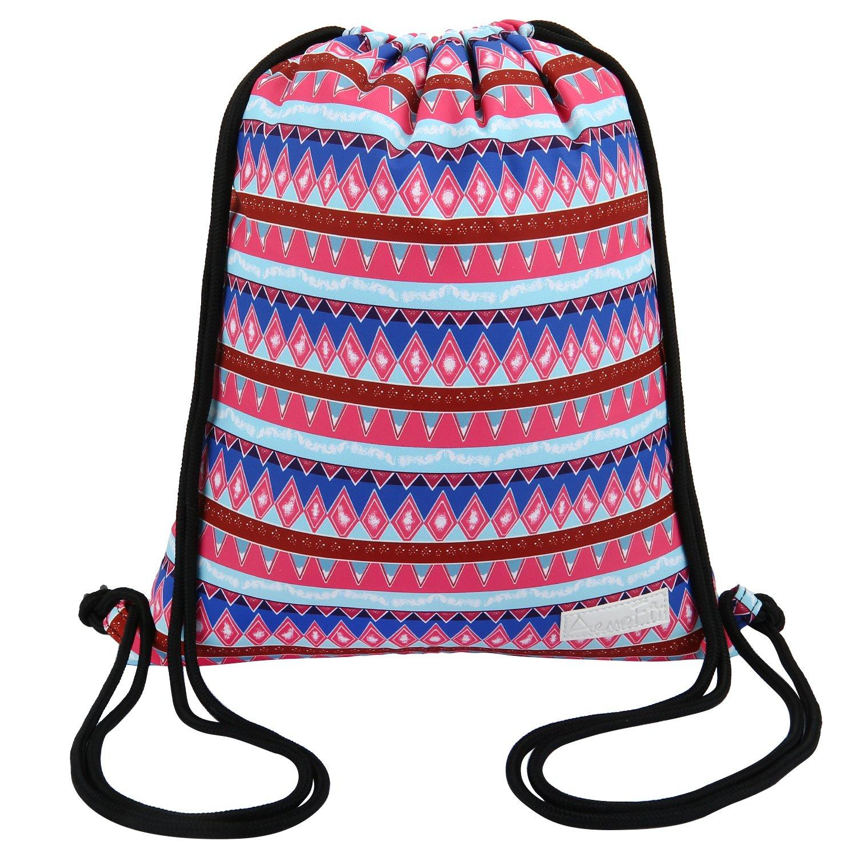 Drawstring Backpack Waterproof Boho Print String Bag