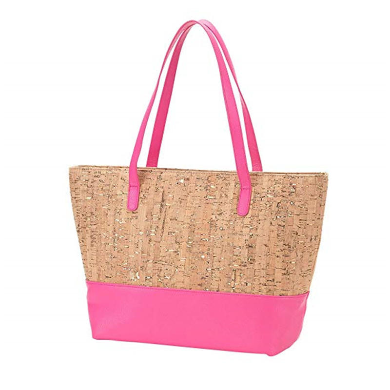 Natural cork wood material shopping tote bag latest design