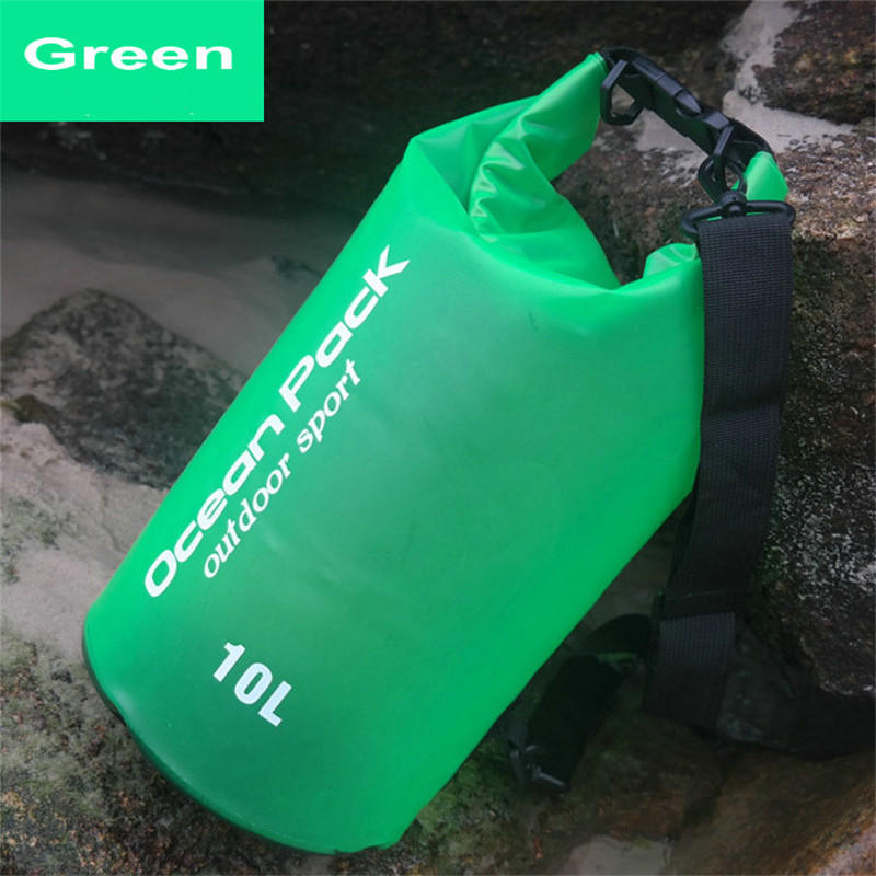 Translucent Waterproof Dry Bag Floating Lightweight Backpack with Shoulder Strap