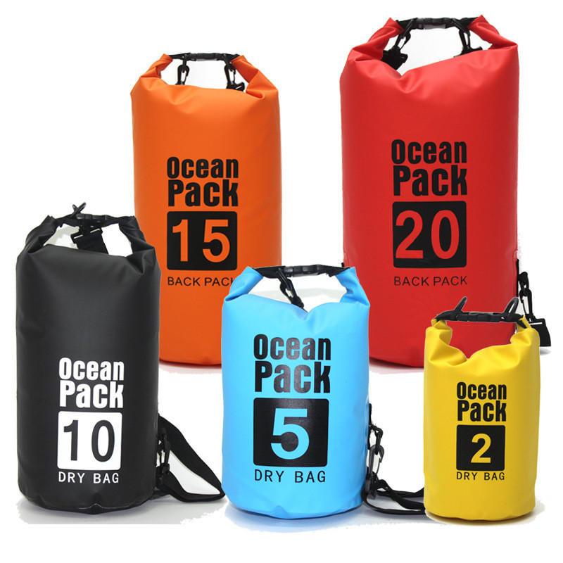Floating Waterproof Dry Ocean Bag and Roll Top Sack Keeps Gear Dry for Kayaking