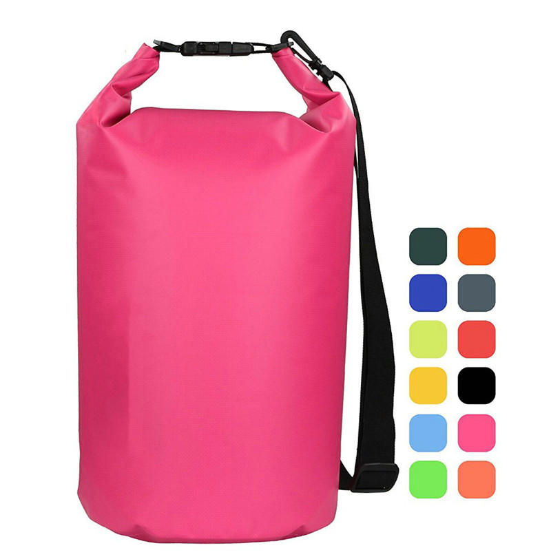 2L 5L 10L 15L 20L 25L 30L 500D Waterproof Dry Bagb Sack Roll Top Dry Backpack With Shoulder Strap