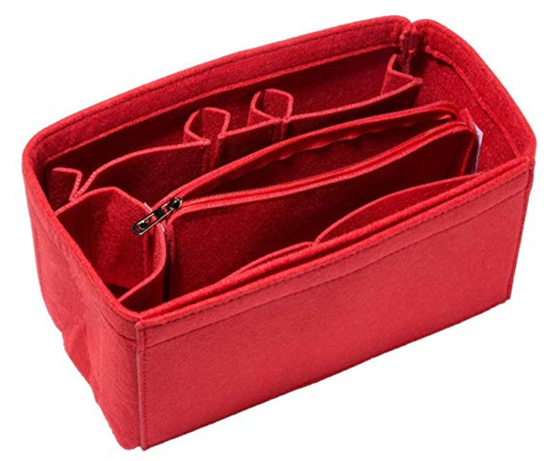 Felt Insert Bag Organizer Purse Organizer Include Zipper Purse for Handbag Choice 3 Size