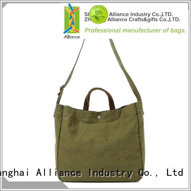 Alliance practical canvas tote bags manufacturer for women