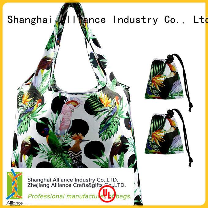 nylon foldable shopping bag design for shopper