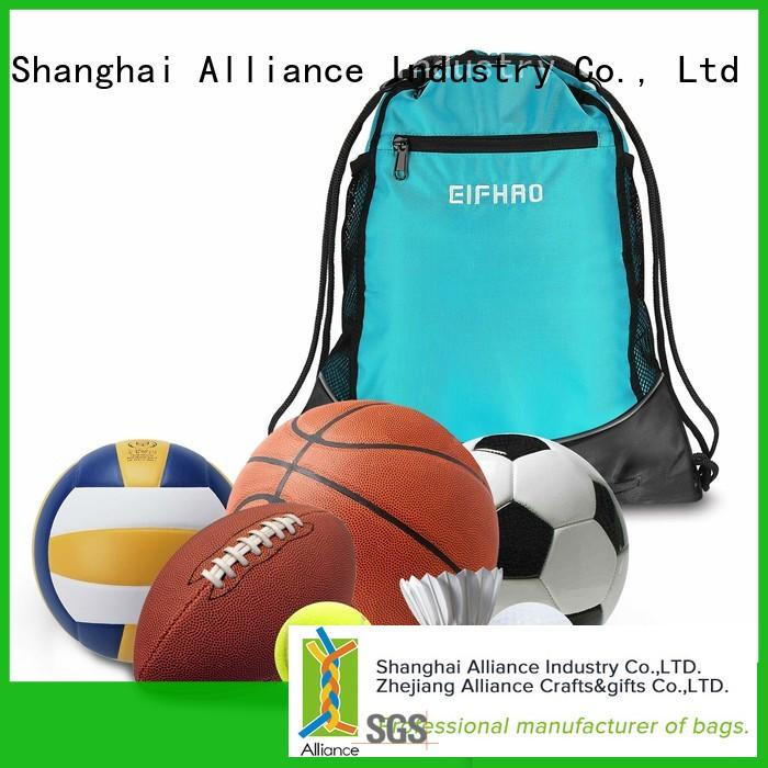cotton drawstring bags with good price for sport Alliance