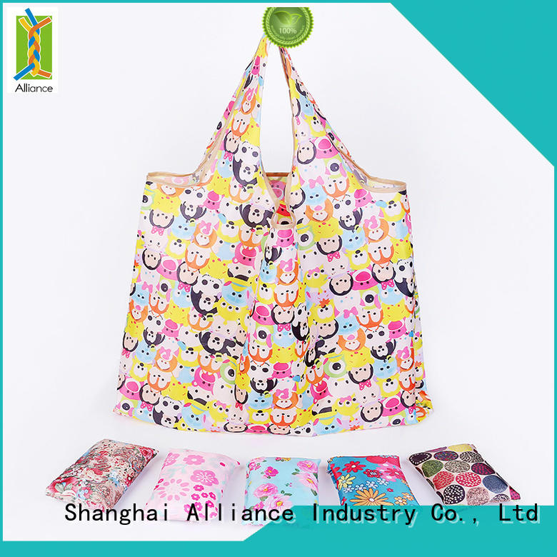 Alliance waterproof foldable shopping bag factory for mall