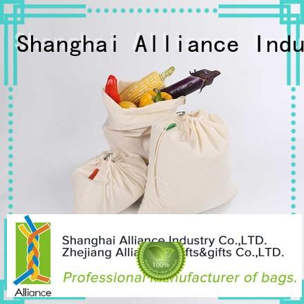 Alliance professional cotton grocery bags factory price for travel