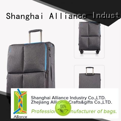 Alliance double wheels trolley suitcase design for women