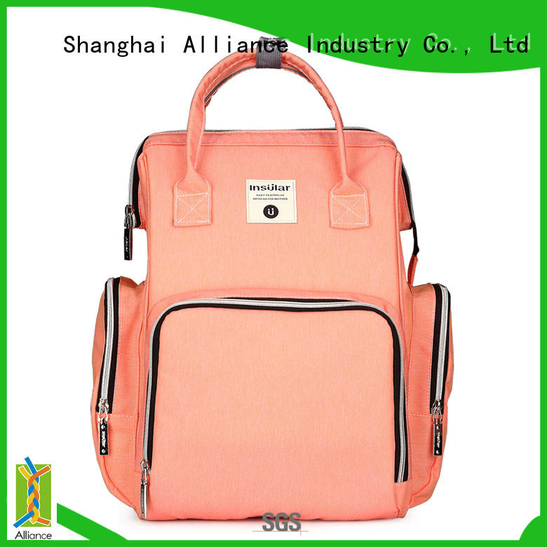 Alliance baby diaper bags customized for girls