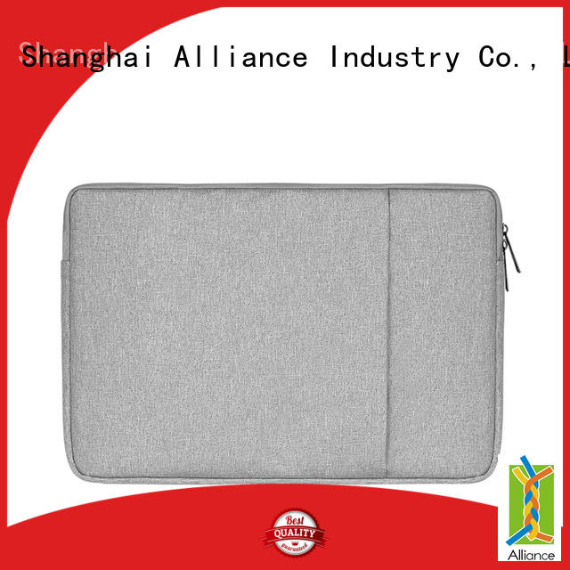 Polyester Vertical Style Water Repellent Laptop Sleeve Case Bag Cover with Pocket