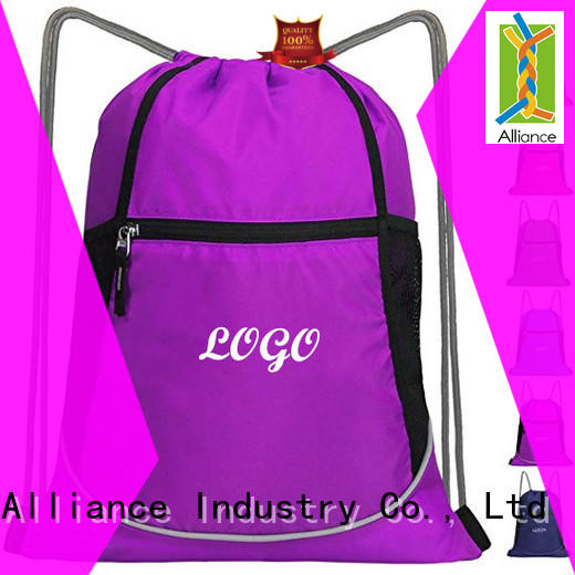 Alliance drawstring bags with good price for sport