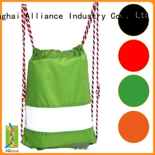 Alliance drawstring bags factory for student