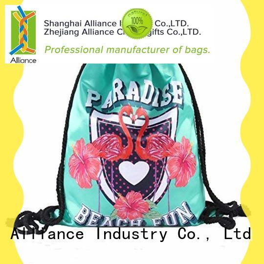 Alliance approved drawstring pouch factory for sport