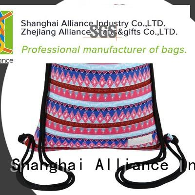 Alliance waterproof cotton drawstring bags factory for sport