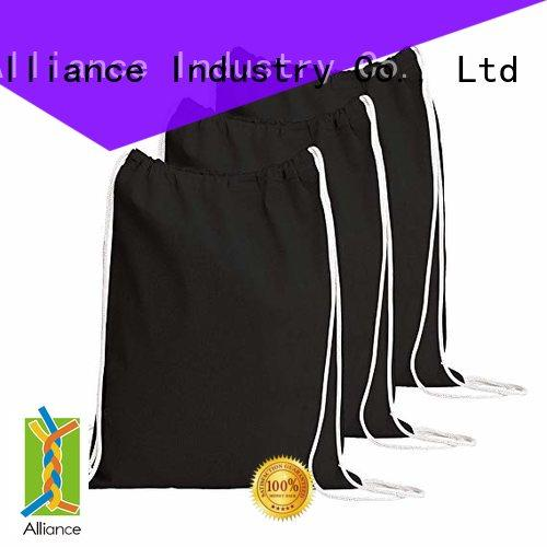 Alliance drawstring bags with good price for student