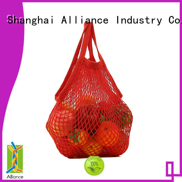 Alliance mesh laundry bags personalized for packaging