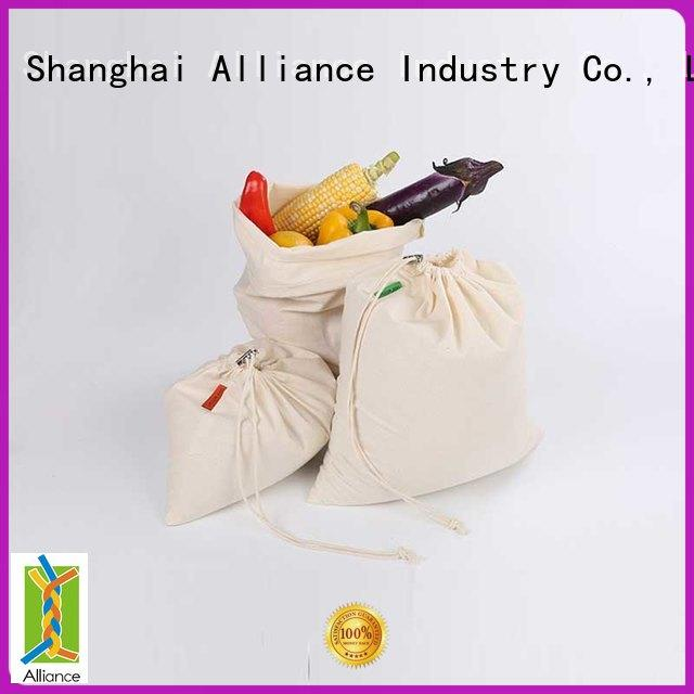 Alliance cotton mesh bag personalized for outdoor