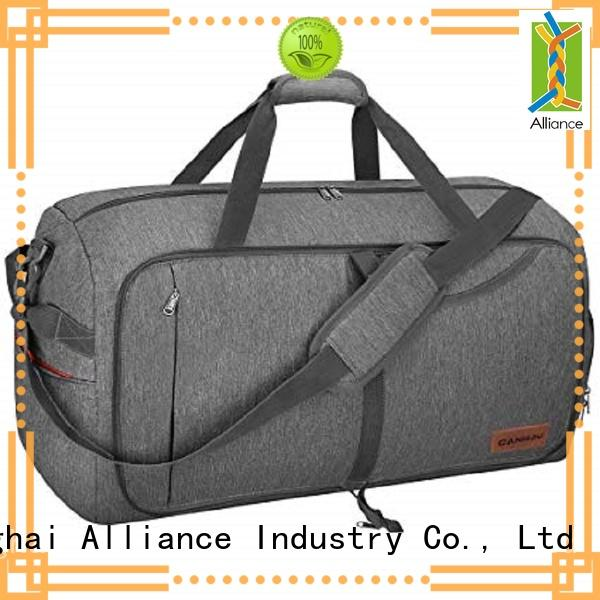 Alliance travel duffel bags customized for sports