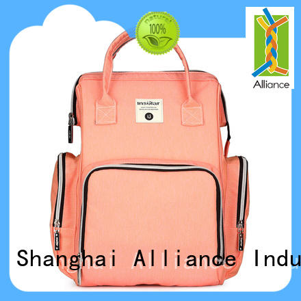 Alliance practical diaper bag backpack directly sale for wet cloth