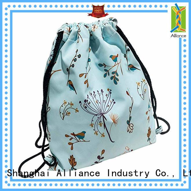 Alliance drawstring backpack with good price for sport
