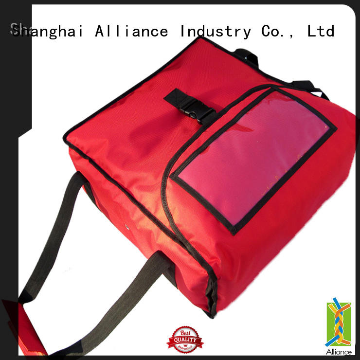 Alliance pizza delivery bag customized for food
