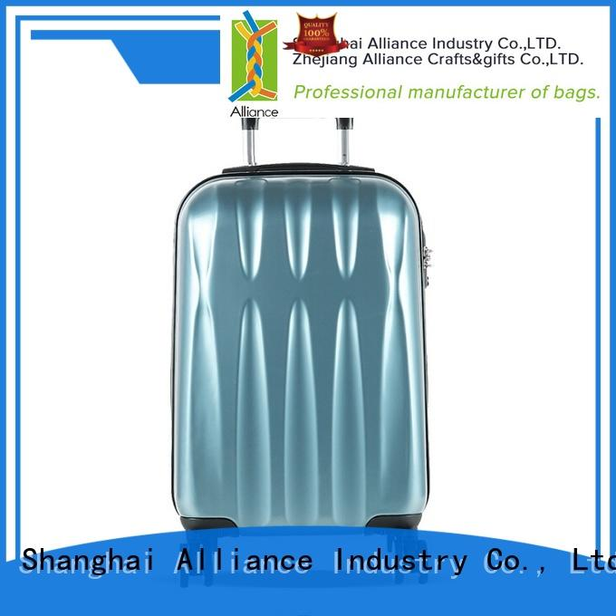 Alliance certificated abs hardshell 4 wheel suitcase factory price for travel