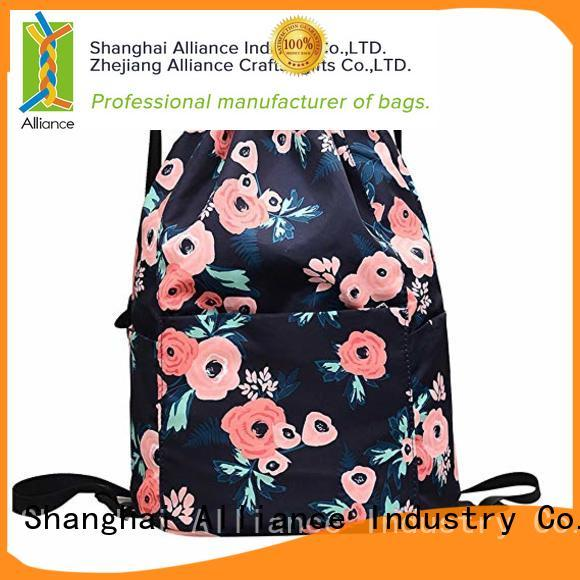 Alliance drawstring bags factory for children