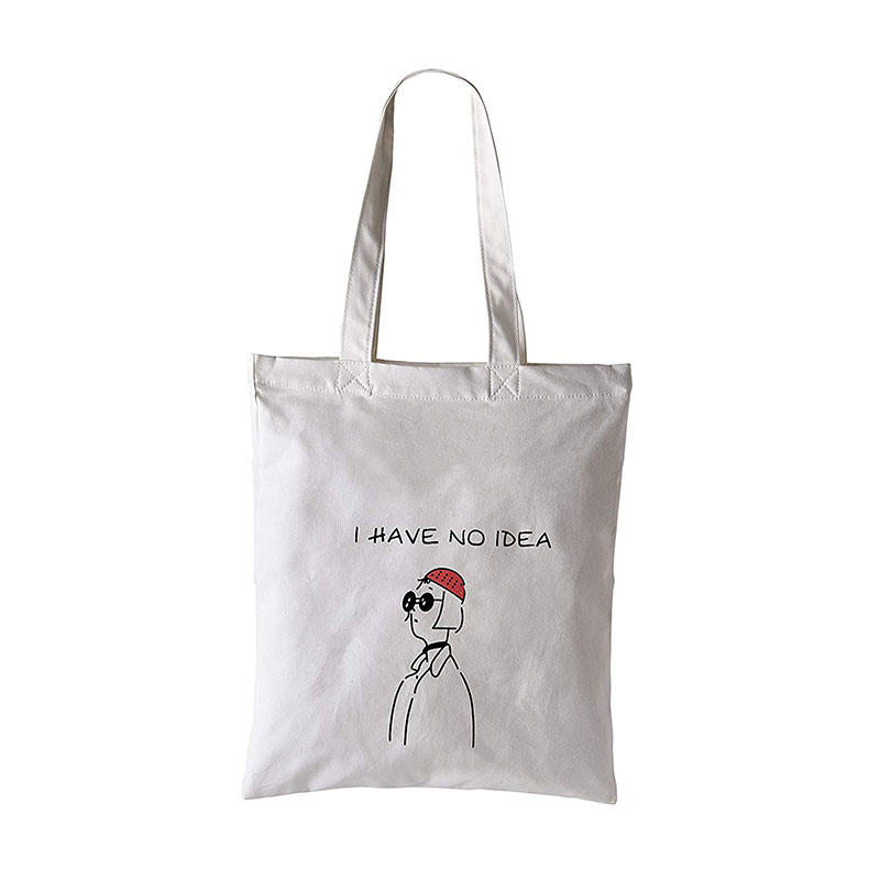 'I Have No Idea' Cotton Canvas Tote Bag Stylish Casual Shoulder Bag with Zipper and Pocket for Shopping Travel and School Work Red Eco-Friendly (Redcap)